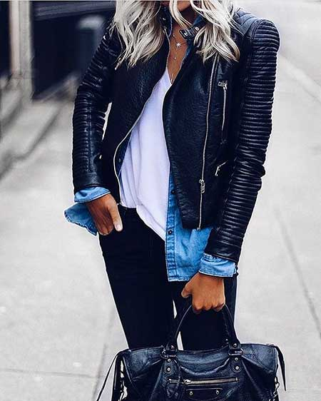 Leather Jacket, Street , Fashion, Leather, Jackets, Biker Jackets, Outfit, Black Leather Jackets, İnspiration