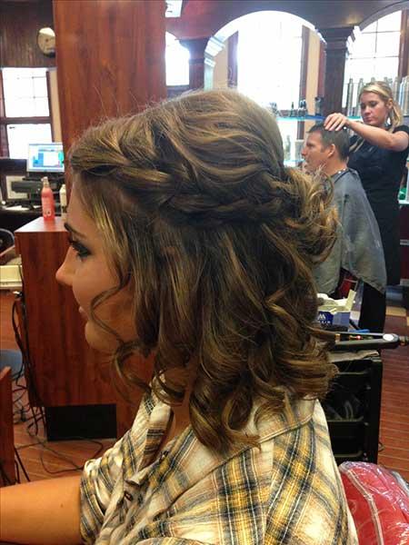 Curls, Braids, Updo, Prom, Prom , Half, Wig