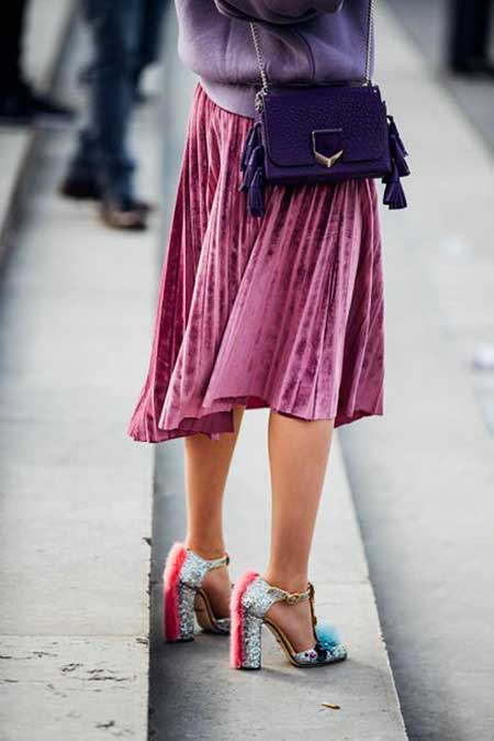 Skirts, Fashion, Midi Skirts, Pleated Skirts, Street , Fashion Week, Pink Skirt, Fall, Ready To Wear