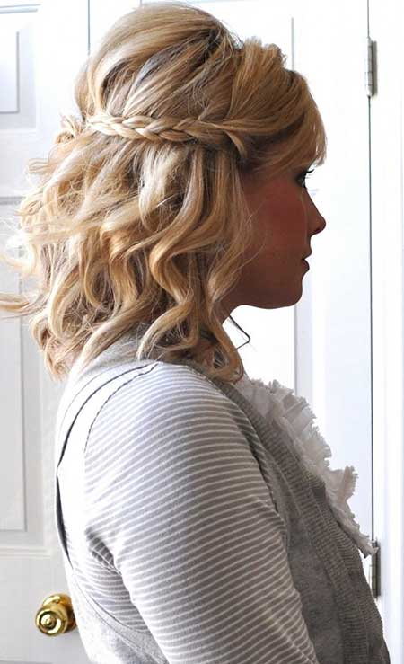 25 Best Wedding Hairstyles for Short Hair Braid