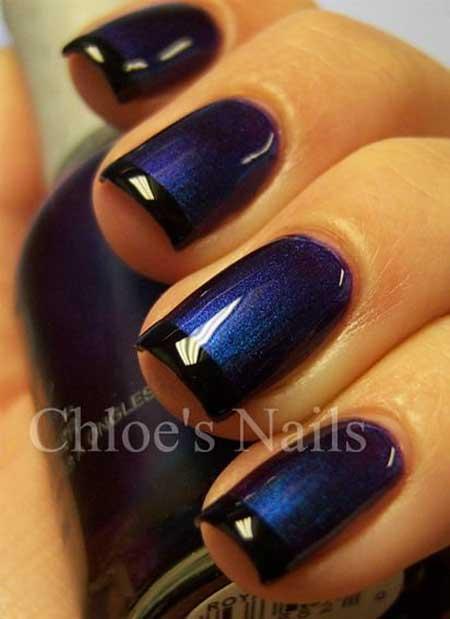 Dark blue nail art designs 2017 nails 2017 french manicure blue nails 2017 nail design blue nail prinsesfo Choice Image