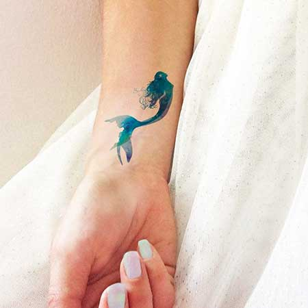 Small Tattoos Mermaid Small - 14
