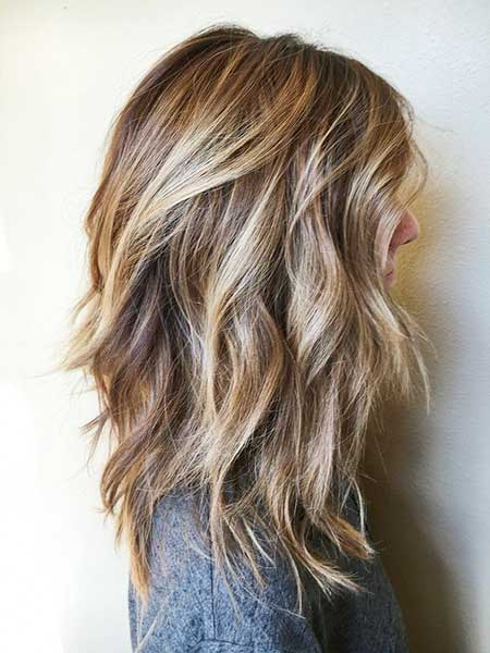 Balayage, Light Browns, Highlights, Choppy Bob, Brown Balayage