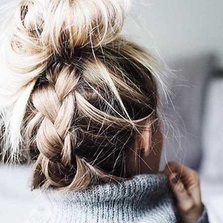 10 messy top knot updo for long hair styles 2017 braids braided bun messy bun buns french braid updo beautiful urmus Gallery