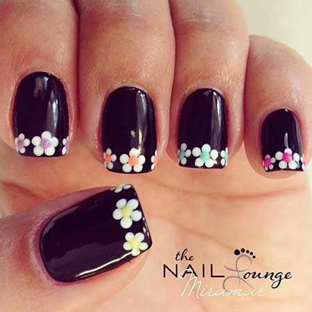 10- Cute White Flower Nail Design - White Flower Nail Art Designs