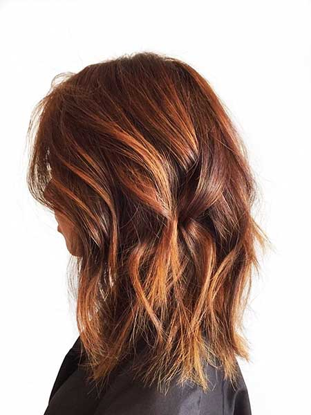 13 Brown Hair Copper Balayage Highlights
