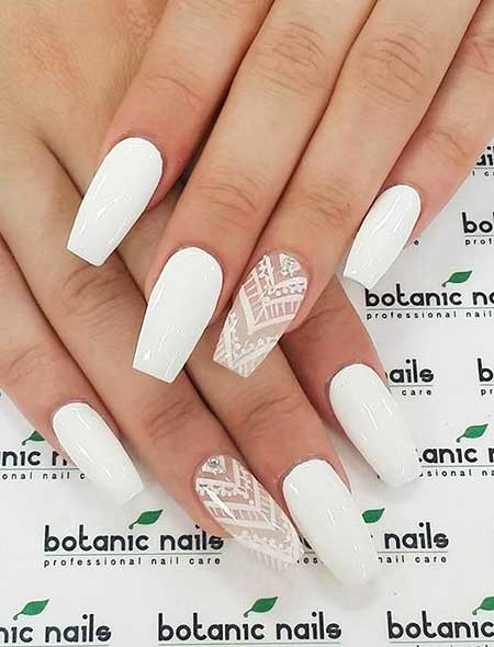 Nails 2017, Nail Design, Nail Art 2017 , White Nail, Nail Idea, Naildesign, Pink Nails 2017, Coffin Nails 2017