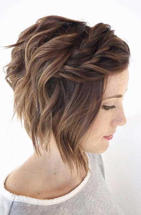 25 Best Wedding Hairstyles For Short Hair Braid