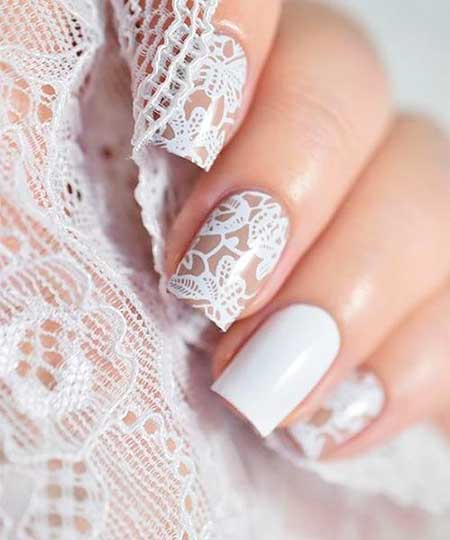 Nails 2017, Nail Art 2017 , Nail Design, Lace Nail, Wedding Nails 2017, Art, Stamps, Lace, Nailart