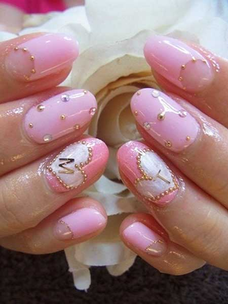 25 cute pink nail art 2017 styles 2017 17 japanese nail art design prinsesfo Image collections