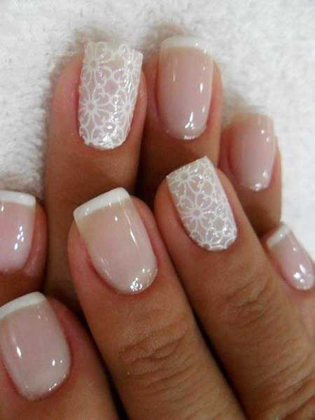 French Manicure, Wedding Nails 2017, Lace Nail, Nail Design, Nails 2017, Nail Art 2017 , French, Manicures, Wedding, Nail Idea