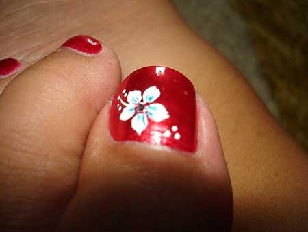 Flower toe nail designs 2017 flowers healthy nails 2018 nail art 2018 nail design art toe nail white flower nail art designs mightylinksfo