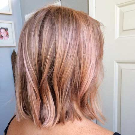 Rose Gold, Gold, Balayage, Rose Gold