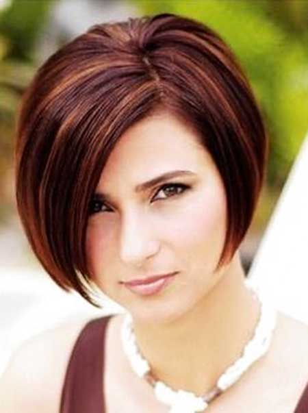 Medium brown hair with red highlights