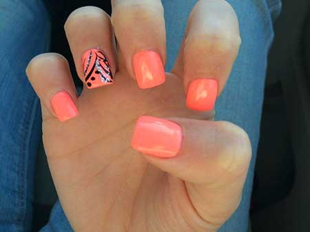 Amazing Summer Season Coral Nail Design Trends