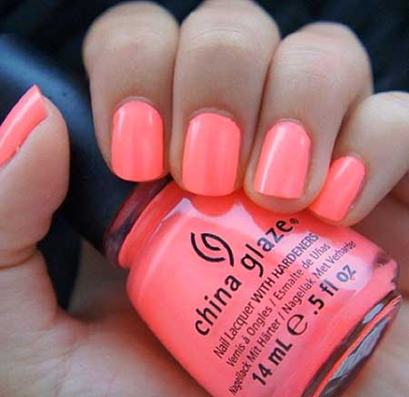 Summer Nails Summer Simple Coral - 14