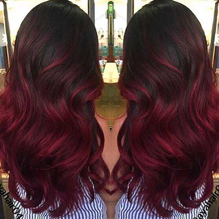 25 burgundy red hair color ombre style