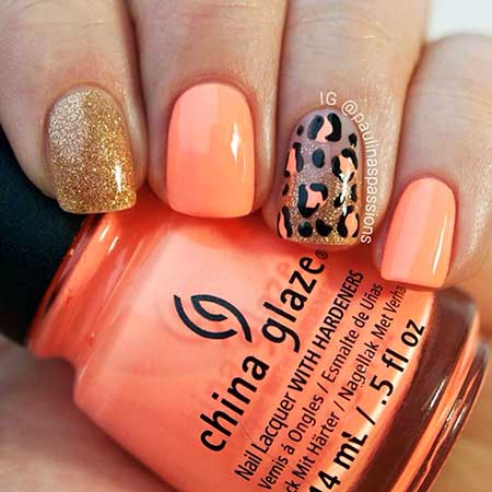 Summer Nails Summer Simple Coral 2017 - 17