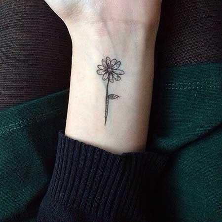 Small Tattoos Flower Small Wrist - 18