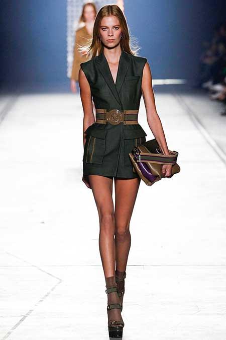 Fashion runway dresses