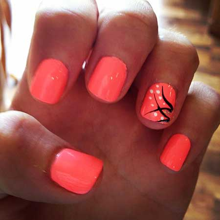 21 cute easy summer nail art  styles 2017