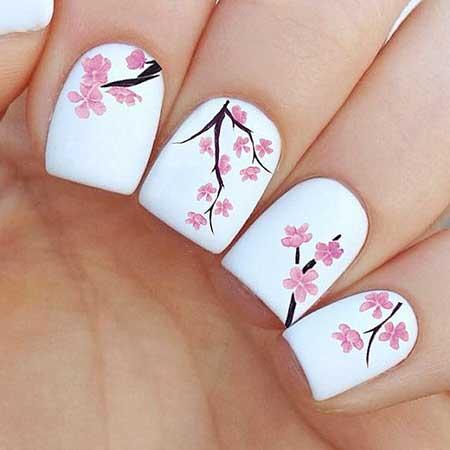 25 simple spring nail art designs 2017 nail design nail art 2017 flower nail floral nail art dandelion prinsesfo Images