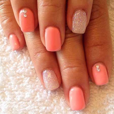 Summer Nails Summer Simple Coral - 23