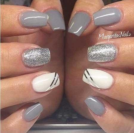 24 Grey Nails