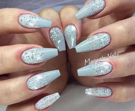 Nail Design, Nail Art 2017, Stiletto, Nail Idea, Glitter, Nailart, - 30 Acrylic Nail Designs For Winter - Styles 2017