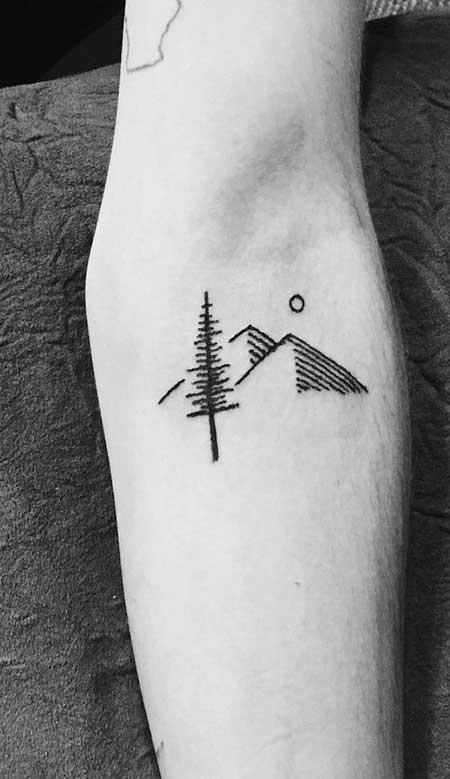 Simple Tattoos Mountain Simple 2017
