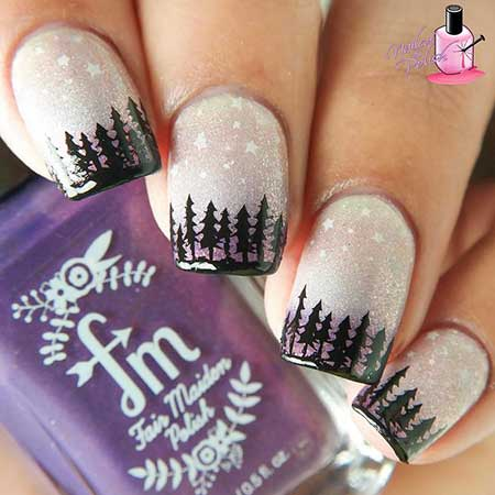 30 acrylic nail designs for winter styles 2017 32 winter nail art prinsesfo Image collections