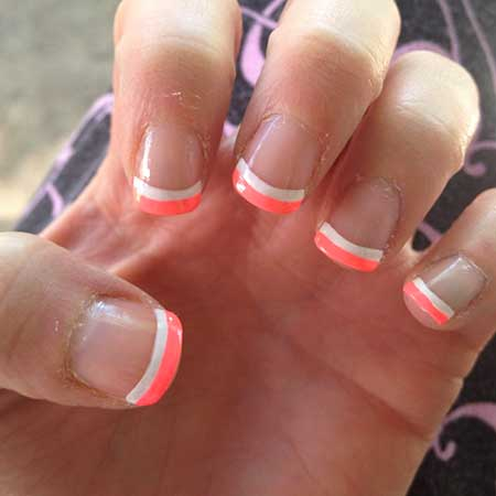 Summer Nails Summer Simple Coral - 33