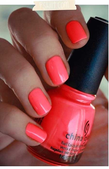 Summer Nails Summer Simple Coral - 34