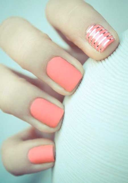 Summer Nails Summer Simple Coral - 39