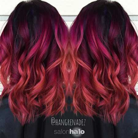 Red, Ombre, Red, Ombre