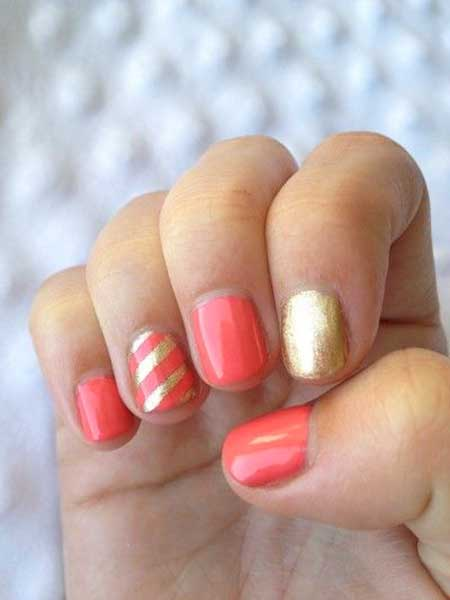 Nails Summer Simple Coral