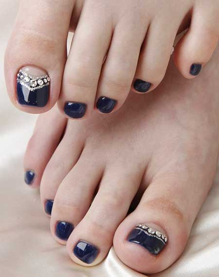 Nails 2017, Toe Nail, Nail Art 2017 , Nail Design, Toenails 2017, Art, Blue Toe