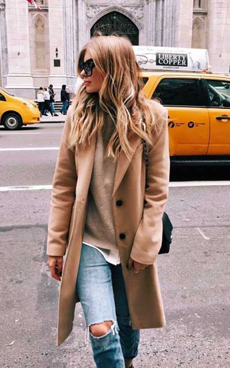 Street, Fashion, Outfit, Street, Camel Coat, Coats, Jackets