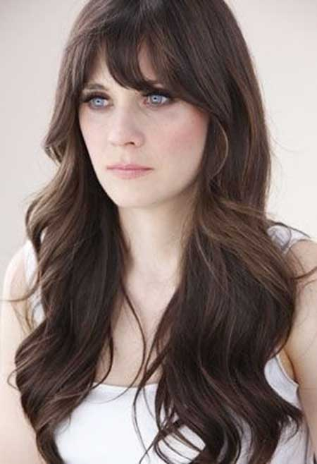 Bangs, Zooey Deschanel, Zooey, Deschanel, Long , Alexa Chung