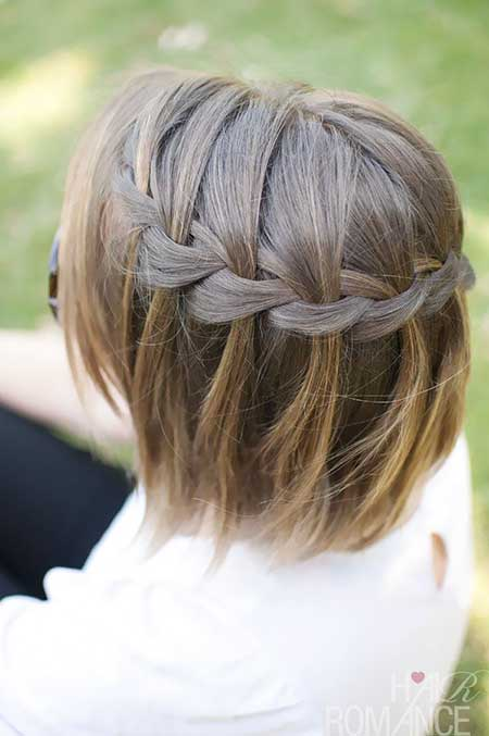 Braids, Waterfall Braid, Updo, Wedding, French Braid, Idea, Side Braid