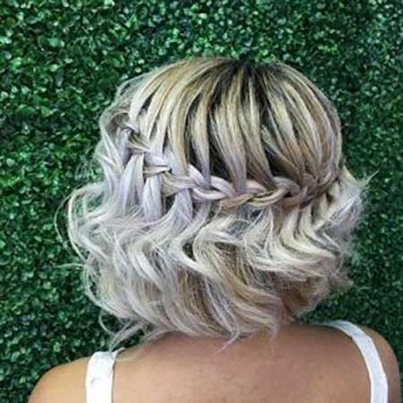 Sock Bun, Braids, Idea, Waterfall Braid, Flower
