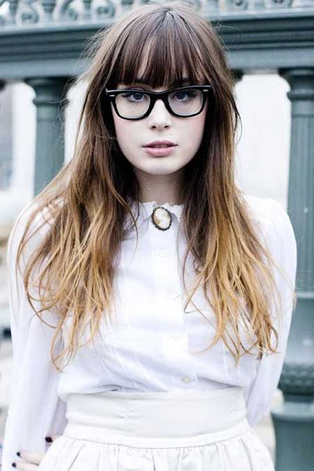 Bangs, Alexa Chung, Beautiful, Ombre, Long
