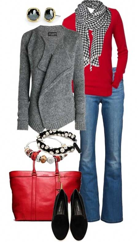 Outfit, Winter Outfit, Fall Outfit, Fashion, Clothing, Casual Outfit, Red, Combos