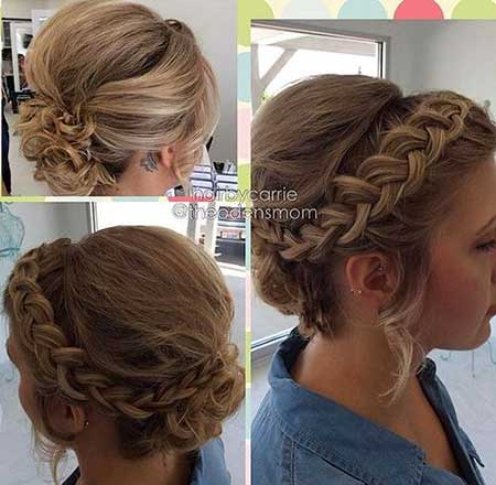 Updo, Wedding, Braids, Wedding, Prom, Bridal, Braided Bun