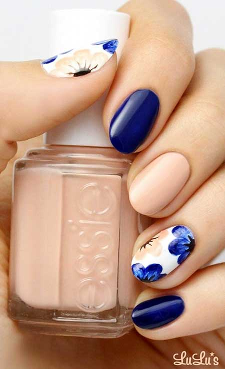 Nails 2017, Nail Design, Nail Polish, Blue Nails 2017, Nail Art 2017 , Essie, Nail ,