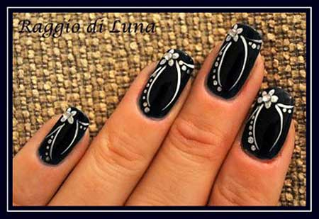 Nails 2017, Nail Art 2017 , Nail Design, Stiletto Nails 2017, Art, Black Nail, Manicu