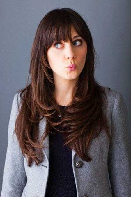 Bangs, Zooey Deschanel, Zooey, Deschanel, Long ,