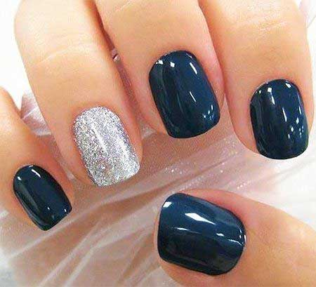 Nails 2017, Nail Design, Nail Idea, Winter Nails 2017, Accent Nail, Nail Art 2017 , Pretty Nail, Silver, Silver Nail