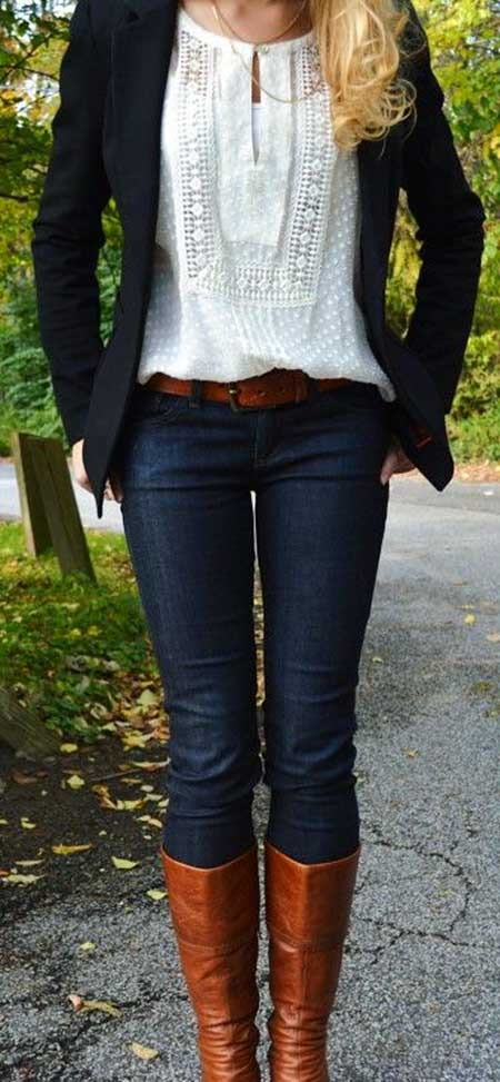 Fall Outfit, Outfit, Fashion, White Blouse, Outfit Ideas, White Shirts, Fall, Blazers, Jeans
