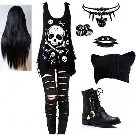 Outfit, Clothing, Fashion, Converse, Emo Outfit, Punk Outfit, Woman Clothing, Fashion